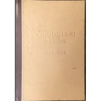 JOSIP BRATULIĆ : VINODOLSKI ZAKON 1288-1988